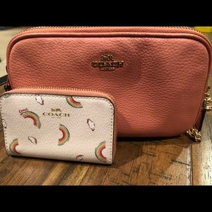 Coach crossbody and mini wallet